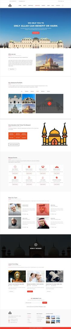 Mosque is a very clean and modern designed #PSD template for #Mosque, Madrasa or #Islamic centers website download now➩ https://themeforest.net/item/mosque-psd-template/19784990?ref=Datasata