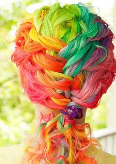 Melanie Dawn Harter's #rainbow hair