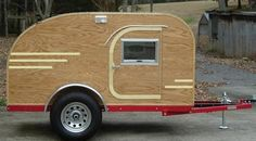 A really awesome way to go camping is to build a teardrop camping trailer that can be customized and modified to meet special needs or specific preference.