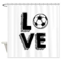 Soccer LOVE Shower Curtain> Soccer Love> Victory Ink Tshirts and Gifts