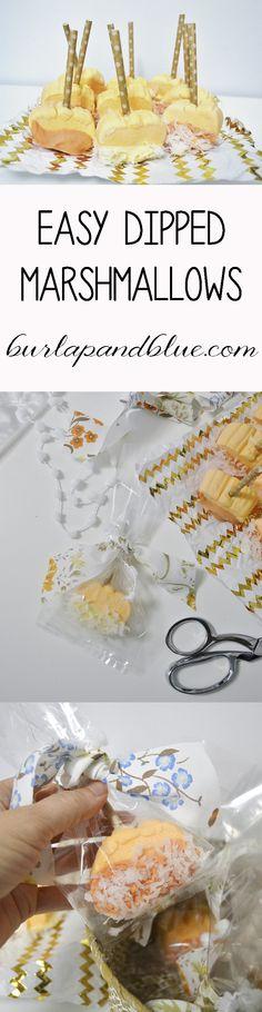 Easy Dipped Marshmallows-Perfect Fall Treat #ad #SweetenTheSeason