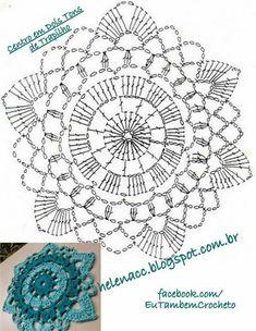 Captivating Crochet a Bodycon Dress Top Ideas. Dazzling Crochet a Bodycon Dress Top Ideas. Crochet Mandala Pattern, Crochet Square Patterns, Crochet Circles, Crochet Diagram, Crochet Chart, Crochet Squares, Crochet Designs, Crochet Stitches, Crochet Tablecloth
