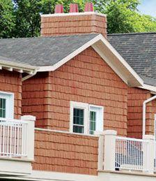 Polymer faux cedar shake siding [ NOVIK ] http://www.novik.com/polymer-faux-cedar-shake-siding