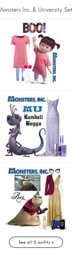 """Monsters Inc. & University Sets"" by allyssister ❤ liked on Polyvore featuring CIMARRON, Boohoo, Hue, INC International Concepts, Missoni, JustFab, Oscar de la Renta, Smashbox, Sisley and Casetify"