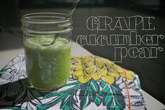 grape cucumber pear juice by shutterbean  (ingredient quick list: green grapes, cucumber, d'anjou green pear, ginger)