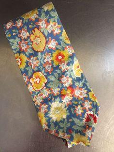 Vintage Liberty of London Necktie Cotton Floral Print Blue Wedding Prom Spring  #LibertyofLondon #NeckTie #Business