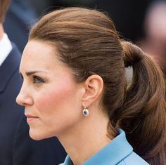 Duchess Catherine's perfect ponytail