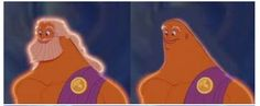 Zeus without his hair and beard