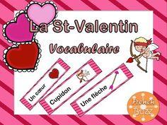 Voici une liste de 15 mots simples et utiles pour vos élèves pour la St-Valentin. Il suffit d'imprimer les mots et de les laminer et vous pouvez les mettre sur votre mur de mots, jouer à des jeux de vocabulaire ou les mettre dans un centre de littératie.