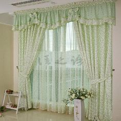 Ideas For Living Room Green Beige Design Seeds Vintage Curtains, Shabby Chic Curtains, Cheap Curtains, Green Curtains, Rustic Curtains, Curtains Living, Colorful Curtains, White Curtains, Diy Curtains