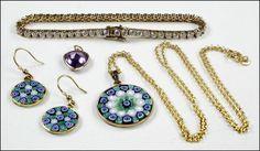 A VENETIAN GLASS DEMI-PARURE. Lot 150-7346 #jewelry