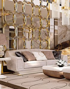 Flat Interior, Luxury Homes Interior, Interior Design, Decorative Metal Screen, Shoe Store Design, Parametric Design, Art Deco Pattern, Lounge Design, Drawing Room