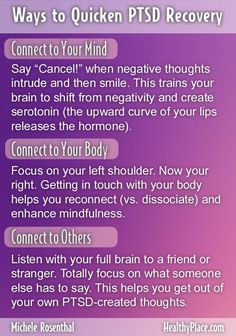 """""""Bill O'Hanlon and I share three ways to help you recover after trauma involving PTSD and connection, compassion and contribution. More at Trauma! A PTSD Blog."""" www.HealthyPlace.com"""