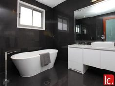 Bathroom Ideas Corner Bath bathroom ideas with polished concrete, tiles, corner bath