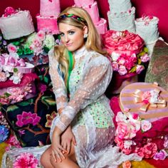 Love the look of this image of Meghan Trainor. all the colours and flowers!