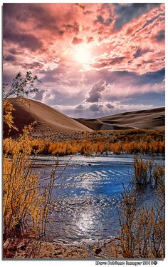 Reflections, at the Great Sand Dunes National Park, Colorado )