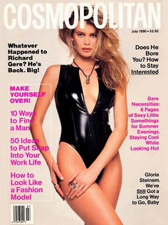 Cosmopolitan magazine, JULY 1990 Model Claudia Schiffer Photographer: Francesco Scavullo