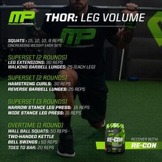 """1,726 Likes, 37 Comments - MusclePharm (@musclepharm) on Instagram: """"Who's training legs tonight? Tag your workout partners and bookmark this brutal Leg Volume Workout,…"""""""