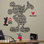 Tyopgraphy Mickey Mouse Giant Wall Decals RMK2073GM