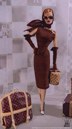 #barbie #louisvuitton #fashion BARBIE HAS GREAT TASTE IN LUGGAGE! RP BY HAMMERSCHMID