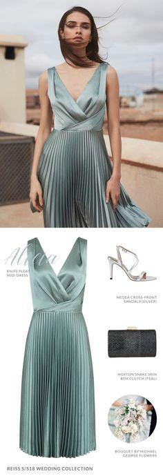 0d3e0ea7a45f Reiss Alicia Knife-pleat Midi Dress for Bridesmaid Dress White Bridesmaid  Dresses