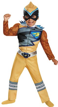 Gold Power Ranger Dino Charge Toddler Muscle Halloween Dress Up / Role Play Costume, Toddler Boy's, Size: 25 Months