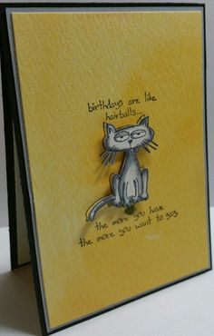 Giggle Greetings from Stampin up Annual Catalog. Still love the cat.