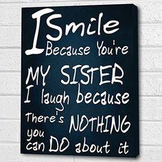 You're My Sister...Wall Quote *Navy* Print on Box Canvas A4 Cheryl Monaghan http://www.amazon.co.uk/dp/B00Z6OI1UQ/ref=cm_sw_r_pi_dp_dUxDvb06XJYSJ