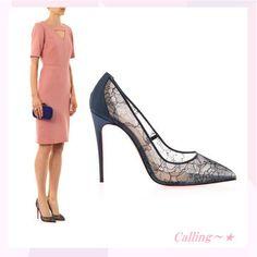 2014 AW★関税,送料込み★セレブ愛用!レースパンプス★ 足全体がレースで覆われているデザインは女性らしく上品です☆真っ赤な靴底もオシャレでキュート♪