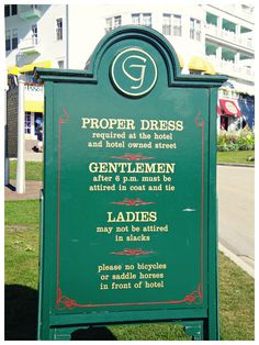 Mackinac Island - Grand Hotel - I really want to go there, but now that I see there's dress code, I'll bet Charlie won't want to. Mackinaw Island Michigan, Mackinaw City, Mackinac Island, Lake Michigan, Places In Usa, Oh The Places You'll Go, Places To Travel, Beautiful Home Gardens, Dream Vacations