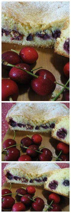 Torta soffice farcita alle ciliegie, un incredibile delizia !! #torta #ciliegie #ricettegustose