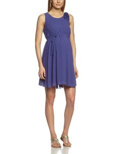 Mamalicious - Vestido premamá lisa sin mangas para mujer, talla 42, color azul marino