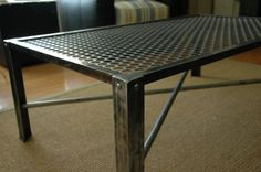 Industrial Metal Coffee Table Mid Century by VintageIndustrial