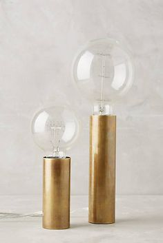 Brass Torchiere Table Lamp Set