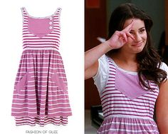 Marc by Marc Jacobs Contrast Stripe Jersey Dress - No longer available Worn with: Marc by Marc Jacobs flats Glee Fashion, I Love Fashion, Fashion Ideas, Zooey Deschanel, Rachel Berry Style, Taylor Swift, Marc Jacobs Dress, Hipster, Fandom Outfits