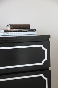 Posh Meets Pavement: Ikea Hack: Malm Dresser + O'verlays, how to paint laminate ikea furniture