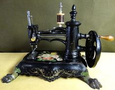 Antique w.g. wilson civil war era ~paw foot~ cast iron hand crank ...