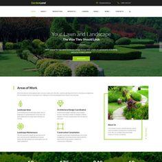 Garden Land - Exterior Design Multipage. Responsive Website Theme