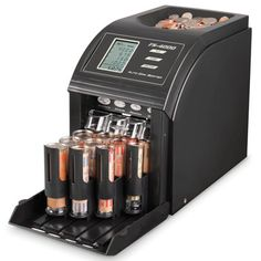 The Best Digital Coin Sorter - Hammacher Schlemmer..Better than the coinstar machine and this won't take a fee!