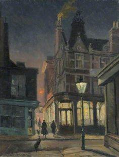 'Camden Head', Camden Walk painted 1961 Geoffrey Scowcroft Fletcher 1923-2004