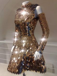 "quaintrelle-style: ""Scale Mail dress by Gareth Pugh """