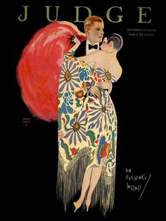 An Evening Wrap. Judge magazine, December 1926.  Art by John Holmgren.(1897-1963).