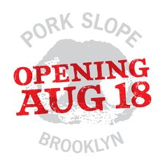 Pork Slope - pork and bourbon via Dale Talde of Top Chef - who wants to go?