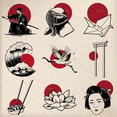 Find Japanese Tradition Style Illustration stock images in HD and millions of other royalty-free stock photos, illustrations and vectors in the Shutterstock collection. Japanese Drawings, Japanese Tattoo Art, Japanese Tattoo Designs, Japanese Prints, Japanese Tattoo Women, Japanese Sleeve, Japan Tattoo Design, Japanese Artwork, Kritzelei Tattoo