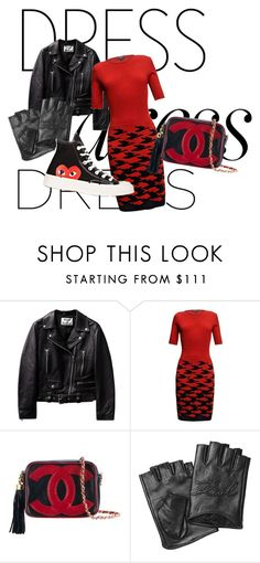 """red is black"" by liekejongman on Polyvore featuring Rumour London, Chanel, Karl Lagerfeld and Comme des Garçons"