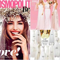 We loved seeing our Poppy Gown from the KWH by KAREN WILLIS HOLMES Collection featured in the current issue of Cosmopolitan Bride Australia