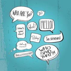 Comic Book Speech Bubbles Vector Graphic — speech bubbles, questions, balloons, cartoon, debate, drawn, forum