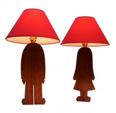 Creative Table Lamps : Boy And Girl Table Lamps