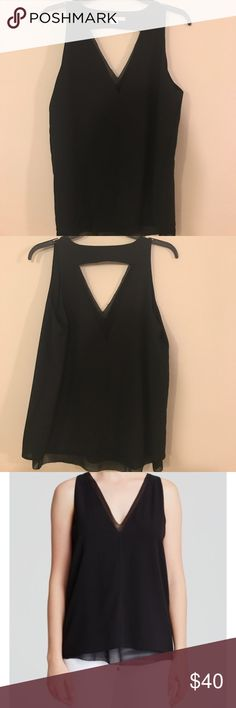 Cooper & Ella Harper Tank 🚨Make Offers🚨 NWOT A Cooper & Ella top, styled with an angular cutout back. The plunging V neckline lends flirty appeal, and knit trim frames the edges. Sleeveless. Lined.  Fabric: Chiffon. 100% polyester. Hand wash. Imported, China.  Measurements Length: 26in / 66cm, from shoulder Cooper & Ella Tops Tank Tops