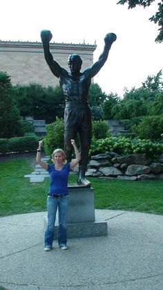 After a performance in Philly... I went to see the Rocky Statue. The Rocky movies are my favorite! All of them!